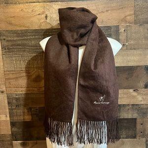 Alpaca Camargo Brown Fringe Soft Cozy Warm Alpaca Knit Peru Scarf